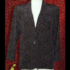 ST GILLIAN VINTAGE black geometric silk blazer 4